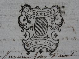1750 Généralité D'Amiens (Somme) Papier Timbré N°169 De 1S 4D Marquisar De Mailly - Seals Of Generality