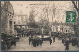 Terrasson , Place Du Foirail , Animé - France