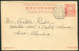 Japan Stationery Postcard - Teplitz Slovakia - 1926-89 Emperor Hirohito (Showa Era)