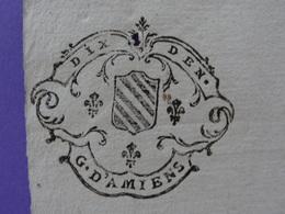 1740 Généralité D'Amiens (Somme) Papier Timbré N°158 Dix Deniers Marquisar De Mailly - Seals Of Generality