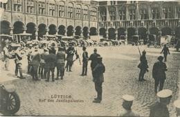 BELGIQUE - FELDPOST - LIEGE - Hof Des Justizpalastes - Cour Du Palais De Justice 1915 - Belgique