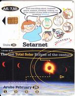 ARUBA - Total Solar Eclipse 1998, Setarnet, CN : 862, 06/98, Used - Aruba
