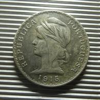 Portugal 1 Escudo 1915 Silver - Portugal