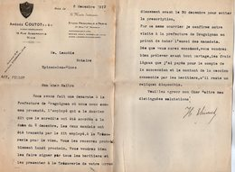 VP15.215 - Lettre - Amédé COUTOT Avocat - Généalogiste à NICE - Etude Principale à PARIS Bd Saint - Germain - Old Professions