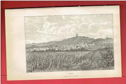 LINAS ESSONNE GRAVURE DEBUT XXe DESSIN DE A. DEROY - Prints & Engravings