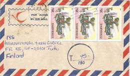 Zimbabwe 1995 Mutare Bus Station Underfranked Taxed Cover - Zimbabwe (1980-...)