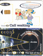 ARUBA - Total Solar Eclipse 1998, Call Waiting, CN : 842, 04/98, Used - Spazio
