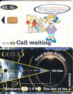 ARUBA - Total Solar Eclipse 1998, Call Waiting, CN : 841, 04/98, Used - Space