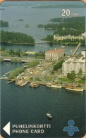 Finland - SPY-D15, Market Place From The Air, Boats, Islands, 20mk, 2,500ex, Exp.12/96, As Scan - Finland