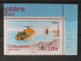 PA 70a Du Feuillet  L'hélicoptère Coin Daté Du 07-02-2007 Neuf** - 1960-.... Nuevos