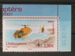 PA 70a Du Feuillet L'hélicoptère Coin Daté Du 06-02-2007 Neuf** - 1960-.... Neufs