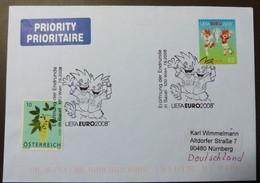 Brief Österreich   2008   UEFA Fußball   #cover 4791 - 1945-.... 2. Republik
