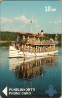 Finland - SPY-D14, Punkaharju, Boat, Barge, 20mk, 2,500ex, Exp.12/96, As Scan - Finland