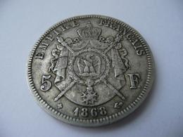 5 Francs 1868 BB Napoléon III Argent  37 Mm - France