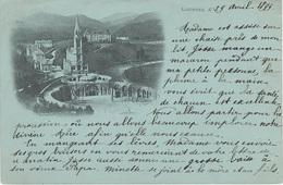 CPA - AK Lourdes 1899 Basilique Notre Dame A Poueyferre Tarbes Jarret Stempel Cachet Namur Station 65 Hautes Pyrenees - Lourdes
