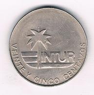 25 CENTAVOS 1981 CUBA /4767/ - Cuba