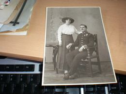 Old Cardboard Kabinet Prtrait Soldiers A Soldier With Excellencies  Alelier Straus Wien - Guerra, Militari