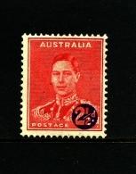 AUSTRALIA - 1941  2 1/2 D  On 2d  MINT  SG 200 - Nuovi