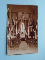 Kerk KASTER (Caster) Binnenzicht / Versiering Inhuldiging Pastoor ( Fotokaart ) Anno 1920 / 30 ( Zie / Voir Photo ) ! - Eglises Et Couvents