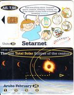 ARUBA - Total Solar Eclipse 1998, Setarnet, CN : 841, 04/98, Used - Espacio