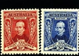 AUSTRALIA - 1930  STURT  SET  MINT NH  SG 117/18 - 1913-36 George V : Other Issues