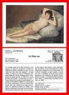 3 FICHES ILLUSTREES. Arts Peintures. La Maja Nue / Jeune Fille Couchée / La Baigneuse Endormie...B879 - Picture Cards