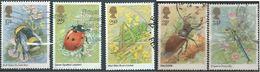 GROSSBRITANNIEN GRANDE BRETAGNE GB 1985 INSECTS SET OF 5 USED SG 1277-81 MI 1022-26 SC 1098-1102 YT 1173-1177 - 1952-.... (Elisabeth II.)