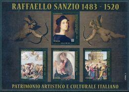 ITALIA ITALY 2020 RAFFAELLO SANZIO 1483-1520 Minisheet* - Blocchi & Foglietti