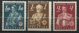 CROATIE  1941   Y&T N° 46-48 MLH - Croatie