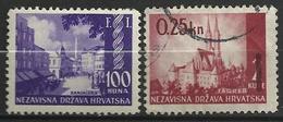 CROATIE  1942   Y&T N° 57** Et 58 Oblit - Croatie