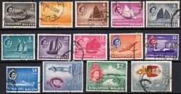 Singapore 1955 Set Less 20c SG 38-45/47-52  - Fine Used - Singapore (...-1959)