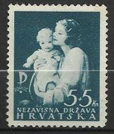 CROATIE  1942   Y&T N° 61 * - Croatie