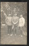 Carte Photos 3 Officiers 1 étoile à Identifier - Généraux De Régiments ? - Non Circulée - Uniformes