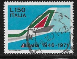 Italy Scott # 1048 Used Alitalia Anniv., 1971 - 6. 1946-.. Republic