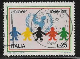 Italy Scott # 1052 Used UNICEF, Children, 1971 - 6. 1946-.. Republic