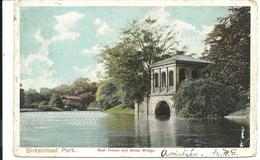 BIRKENHEAD PARK - BOAT HOUSE AND SWISS BRIDGE - CHESHIRE WITH BIRKENHEAD DUPLEX POSTMARK 74 - Other