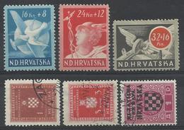 CROATIE  1941 1944    Lot De 6 Timbres Oblit Et * - Croatie