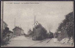 Boncourt - La Frontière - Train à Vapeur - Dampflok - 1912 - JU Jura