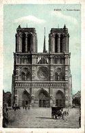 CPA Paris Notre-Dame - Animée - Notre Dame De Paris