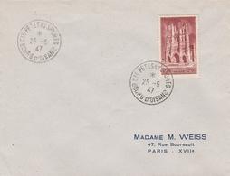 OBLIT. TEMPORAIRE BOURG D'OISANS - FÊTES ET SPORTS - 25.5.47 - Postmark Collection (Covers)