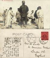 China, Chinese Men On Ice Boat, Pigtail 1908 RPPC, Tientsin - Shanghai To London - China