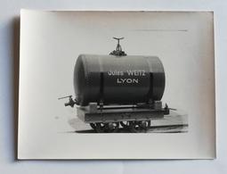 "Wagon Citerne  - Constructeur Jules Weitz ""- Photo Ancienne - 17 X 23 Cm. - Trenes"