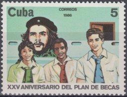 1986.123 CUBA Ed.3235. MNH. 1986. 25 ANIV PLAN DE ESCUELAS EN EL CAMPO. ERNESTO CHE GUEVARA. - Kuba