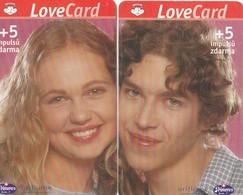 REPUBLICA CHECA. Puzzle (2 Tarjetas).Lovecards I, C358, 01/01.01 - Lovecards II, C359, 02/01.01. (093) - Puzzles