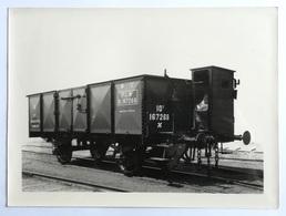 """Wagon De Marchandises Cabine PLM  - Constructeur Jules Weitz """"- Photo Ancienne  - 17 X 23 Cm. - Trenes"""