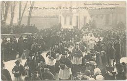 FUNERAILLES DE S.E. LE CARDINAL PERRAUD  A AUTUN - Funérailles