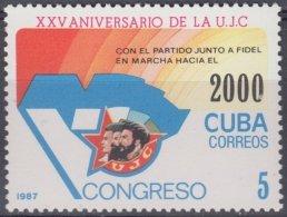 1987.82 CUBA Ed.3247. MNH. 1987. 25 ANIV UJC. ERNESTO CHE GUEVARA. - Kuba