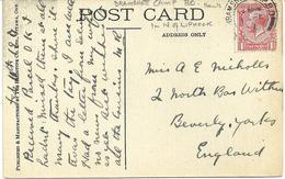 BRAMSHOTT CAMP B.O. HANTS POSTMARK ON OTTAWA - ONTARIO POSTCARD DATED 1917 - Postmark Collection
