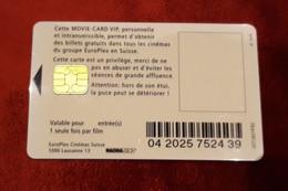 Cinecarte CRÉDIT SUISSE VIP TRÉS RARE MOVIE CARD - France