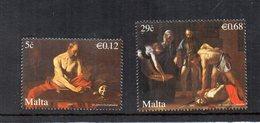 Malta - 2007 - Dipinti Del Caravaggio - 2 Valori - Nuovi - Vedi Foto - (FDC15906) - Malta